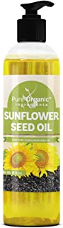 Sunflower Seed Oil (16 oz) by Pure Organic Ingredients, Highest Quality, Vegan, Kosher, Non-GMO, Therapeutic Grade, Paraben Free, Silicone & Sulfate Free, Clear Bottle with Push Open Dispensing Cap