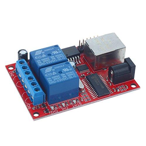 Nrpfell LAN Ethernet 2-Wege Relais Platine Verz?gerung Schalter TCP/Udp-Kontrolleur Modul Web Server