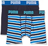 Puma - Basic Boxer - lot de 2 - Garçon - Bleu (Blue) - FR: 13-14 ans (164)