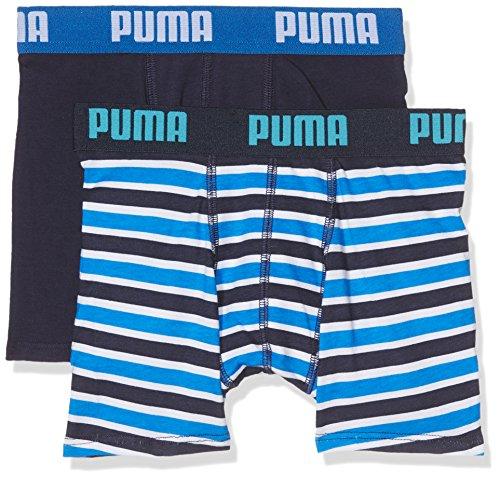 Puma Basic Boxer Printed Stripe 2P, Bóxer para Niños, Azul