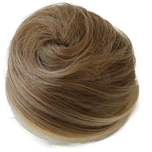 PRETTYSHOP Dutt Haarteil Zopf Haarknoten Hepburn-Dutt Haargummi Hochsteckfrisuren blondmix #27T613 DC17