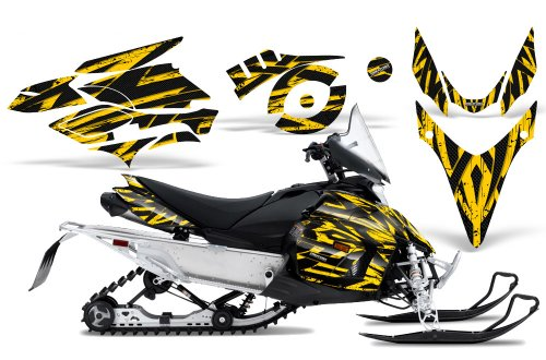 CreatorX Graphics Kit Decals Stickers for Yamaha Phazer Rtx Gt Mtx Snowmobile Sled Tribal Madness Yellow