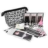 anmas rucci 19in1 Eyelash Extension Kits Micro Brushes Glue Lash Pallet Under Eye Pad & Bag