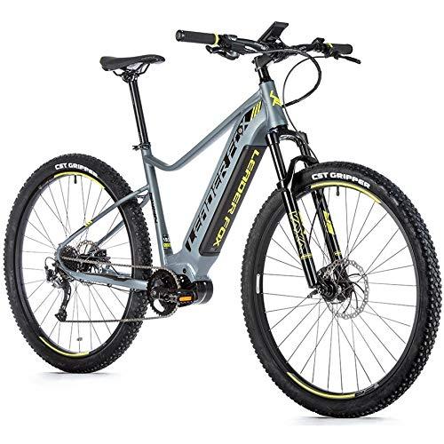 29 Zoll Leader Fox SWAN Gent E-Bike Elektro Fahrrad MTB Pedelec 630Wh Grau Gelb RH 45cm