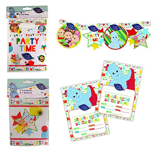 For Sale! IN THE NIGHT GARDEN 4 Piece Party Set - Loot Bags, Cardboard Party Banner, Invitations & P...