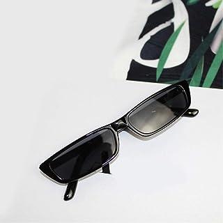 ZRTYJ - Gafas de Sol Gafas De Sol Estrechas Punk Style Retro Gafas De Sol Negras Gafas De Mujer Y Hombre Cool Anti-UV Uv400 Lens