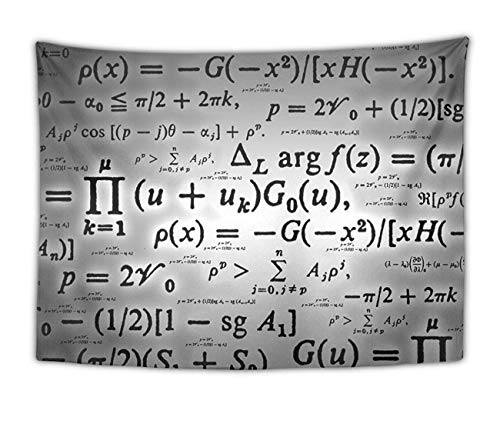 Elinna Wall Hanging Bohemian Tapestry Hippie Art Wall Decor Tapestries for Bedroom Living Room Dorm Home Decor (Math Equation Grey, 60 X 70 Inches) 60x40in(100x150cm)