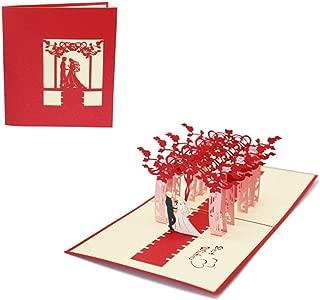 バレンタイン メッセージカード 飛び出すカード 記念日カード グリーティングカード ポップアップカード 立体 3D ウエディング 結婚祝い 結婚式 招待状 プロポーズカード