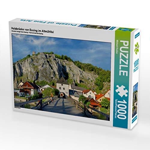CALVENDO Puzzle Holzbrücke von Essing im Altmühltal 1000 Teile Lege-Größe 64 x 48 cm Foto-Puzzle Bild von Michael Rucker