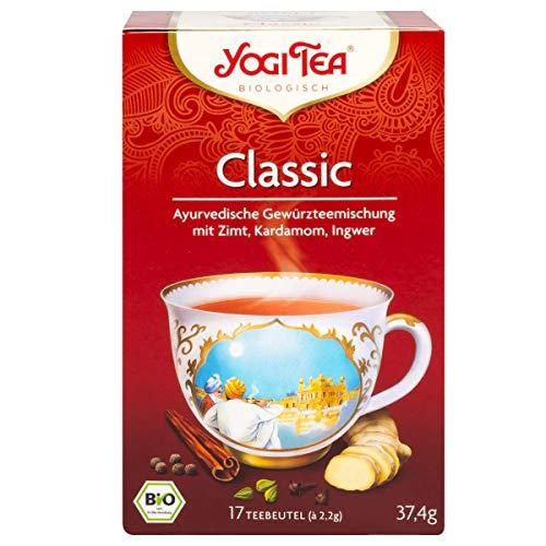 Yogi Tee, 37,4 Gramm, 17 Stück Teebeutel, Classic Ayurvedische Teemischung, Biotee, Chai Tee, Yogi Tea - Bremer Gewürzhandel