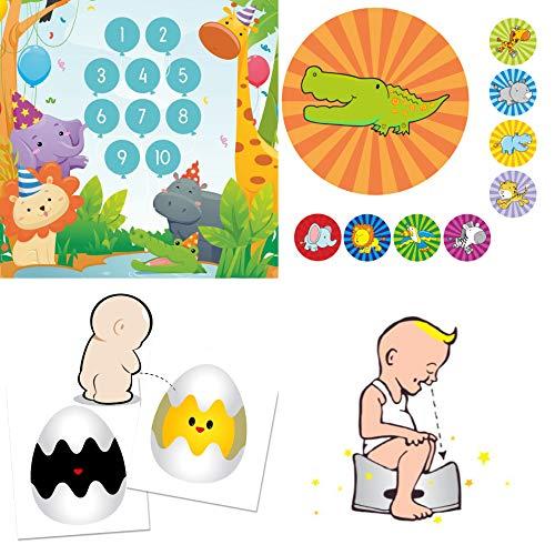 Potje trainer voor baby en peuters met grappige stickers en beloningssystemen -