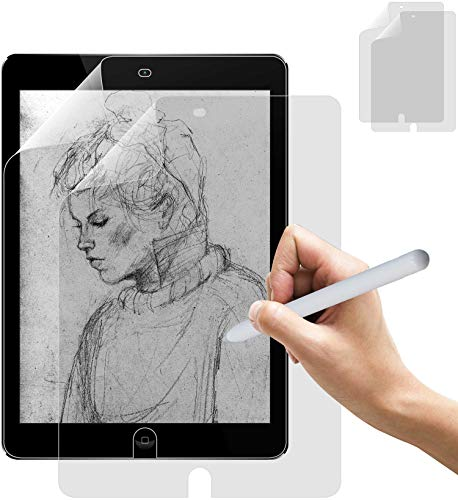 Thorani 2x Paper-Feel Screen Protector for Surface Pro 7 (12.3' Zoll) - Dull TPU Film, Writing & Drawing like on Paper, compatible with Surface Pencil & Windows Hello