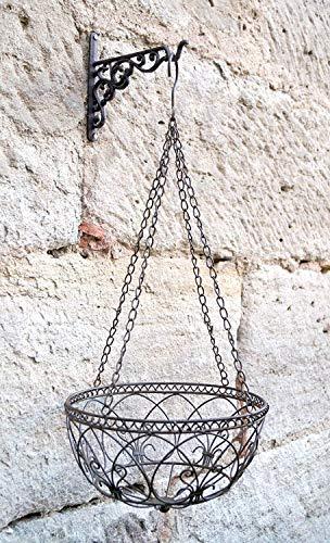 LB H&F Lilienburg Blumenampel Hängekorb Metall (Ø 30 cm)