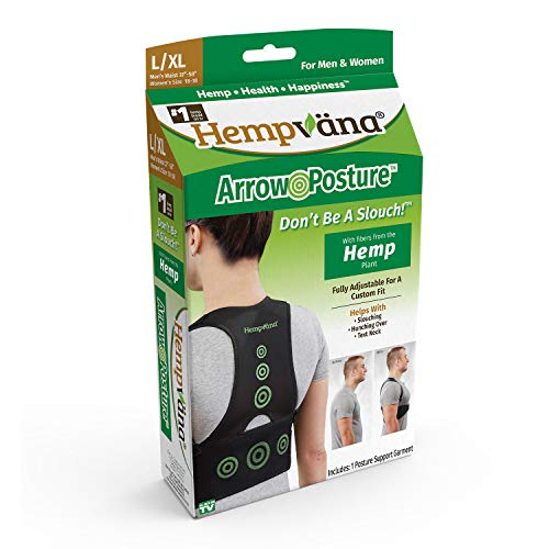 Hempvana Arrow Posture - Fully Adjustable Posture Support & Posture Corrector for Upper Body