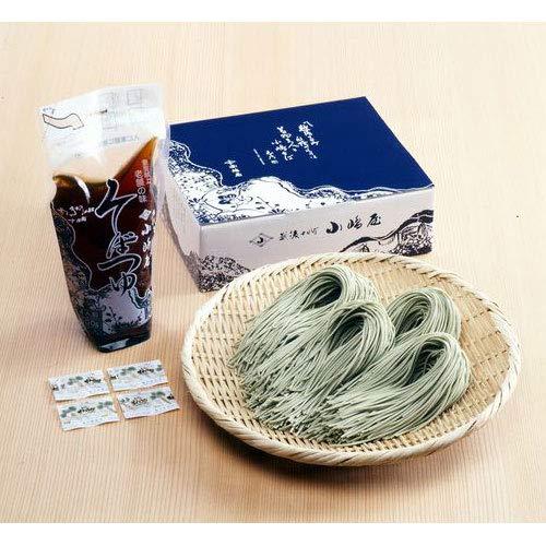 新潟 皇室献上へぎ蕎麦の老舗 越後十日町 小嶋屋 生蕎麦190g 4束つゆ付き 贈答品