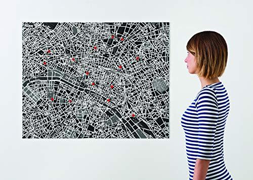 Palomar Pin City - Carte de la Ville de Paris pour Le Mur, Noire