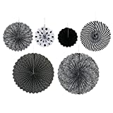 WINOMO Ceiling Hanging Party Decoration Paper Fan Flower Set of 6