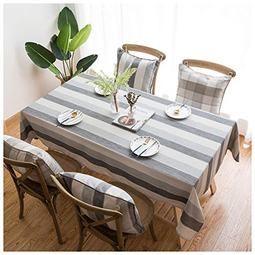 WLI Mantel Lavable, Mantel de Comedor Decorativo de Lino de algodón, Cubierta de Mesa de Centro Rectangular de Estilo Simple, jardín de Cocina Adecuado, 70x110cm