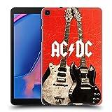 Head Case Designs Officiel AC/DC ACDC Guitares Électriques Iconique Coque Dure pour l'arrière Compatible avec Galaxy Tab A 8.0 & S Pen 2019