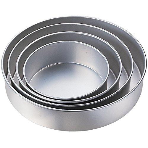 Kabalo 5pc Wedding Cake Tin Pan cottura cuocia vassoio rotondo set di livelli (diametri: 24, 26, 28, 32, 36 centimetri) [5pc Wedding Cake Tin Pan BAKING BAKE TRAY ROUND LAYER SET (diameters: 24, 26, 28, 32, 36cm)]