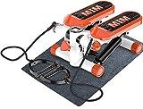 Suge Aeróbicos Aptitud Steppers máquina de torsión con Bandas y Monitor LCD, Escalera Paso a Paso Equipo de Ejercicio Ajustable Paso máquina for Adelgazar