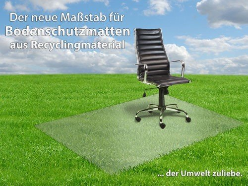 Bodenschutzmatte transparent für Hartböden, Größe: 78 x 119 cm, Öko-Label Blauer Engel