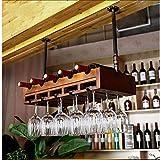 AERVEAL Estante de Vino Soporte de Vino Titular de la Botella Cuelga de Vino Rack Bar Cubilet Soporte Creativo Invertido Vino Copa de Vino Titular de Vino,1,80 * 30 cm