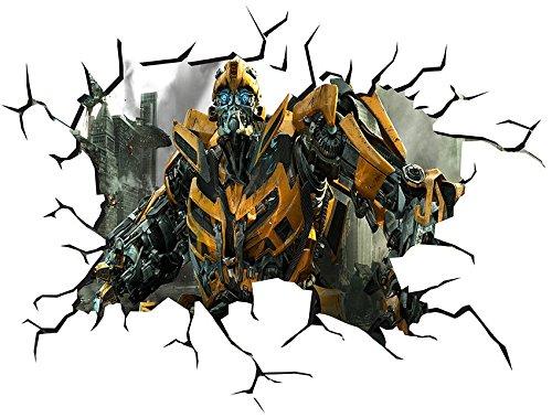 Transformers V005 muur barst muur smash muur Sticker zelfklevende poster muur kunst grootte 1000mm breed x 600mm diep (groot)