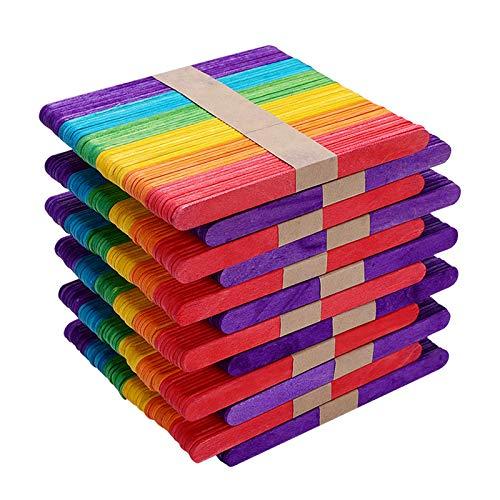 Materiales de alta calidad: (Aunque este producto es colorante comestible, sigue siendo Químico, para la salud de los niños, NO debe entrar en contacto con los alimentos !!!) las Palos están hechas de madera natural de alta calidad, incluidas 600 bar...