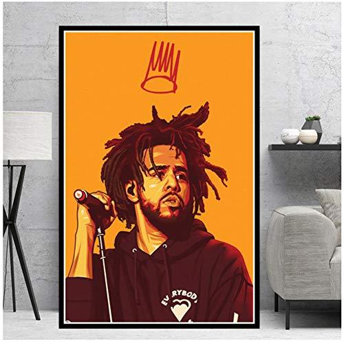 Kendrick Lamar Tupac Cole Travis Scoot Rapper Stars Poster Prints Painting Wall Art Pictures Decoración para el hogar-50x70cm Sin marco