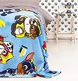 Manta de Forro Polar Oficial de la Patrulla Canina, diseño de Cachorros poderosos, Manta Supersuave, Cualquier Dormitorio