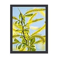 INOV 緑かわいらし 森 木 自然 絵画 インテリア 額入り おしゃれ 額絵 フレーム アートフレーム 絵画 壁掛け 玄関 リビング 30x40cm