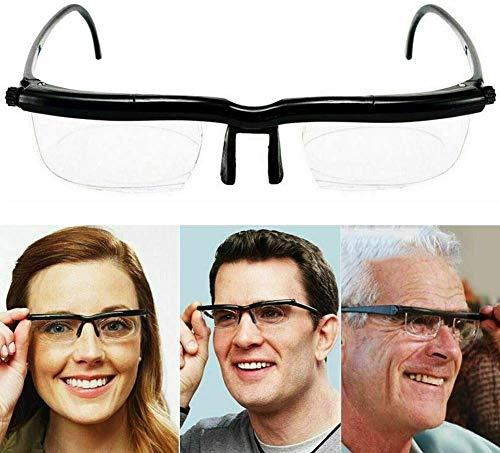 Einstellbare Brille mit variablem Fokus, verstellbare Brille Dial Vision Zoomobjektiv mit variablem Fokus für Fernablesung, manuelle Fokussierung Männer Frauen