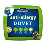 Silentnight Anti-Allergy Duvet, 4,5 Tog Duvet, Microfibre, Single, Anti-Bacterial Quilt