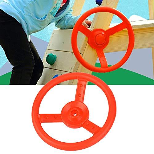 Alomejor Kunststoff Lenkrad Kinderspiel Kleines Lenkrad Ideal für Kinder Kinder Klettergerüst Baumhaus Spielhaus(rot)