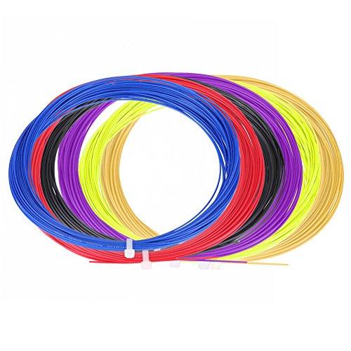 Tbest Set di Corde da Badminton 2 Pezzi, 10 m in Nylon Resistente ad Alta flessibilità, Racchetta da Badminton, Corde per Corde, Accessori per Allenam