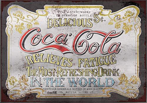 Coca Cola Coke inspired Vintage Retro Man Cave Bar Pub Shed Novelty Gift Aluminium Metal Tin Wall Décor Sign