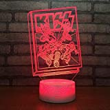 Novedad creativa LED Lámpara de noche pequeña Touch Color Tablero de mesa Lámpara pequeña 3d Regalo personalizado Venta al por mayor Usb Led Accesorios de iluminación 3d