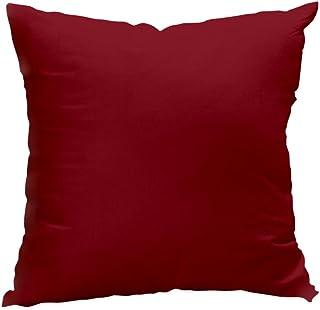 Soleil d'ocre Cojín desenfundable 60 x 60 cm Alix Rojo