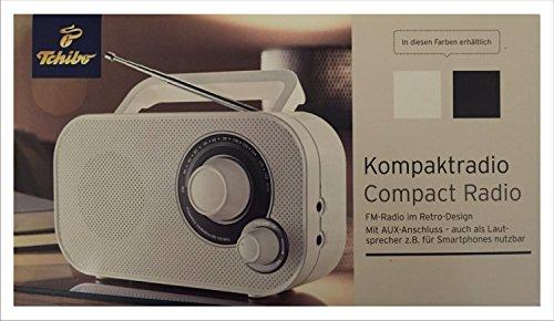TCM Tchibo Tragbares Kompakt Radio AUX Anschluß f. MP3 3,5-mm Klinkenstecker (Weiß)
