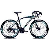 Bicicletas De Carretera, Ruedas De 26 Pulgadas, 24 Velocidades Bicicleta De Montaña Universal De Cross-Country para Hombres Y Mujeres,Frenos De Doble Disco Absorción De Impactos-7