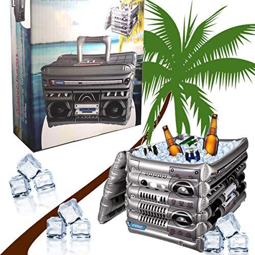 Cepewa Aufblasbarer Getränkekühler Musikbox Boombox Kühler Bierkühler Eisbox Kühltasche Deko Party