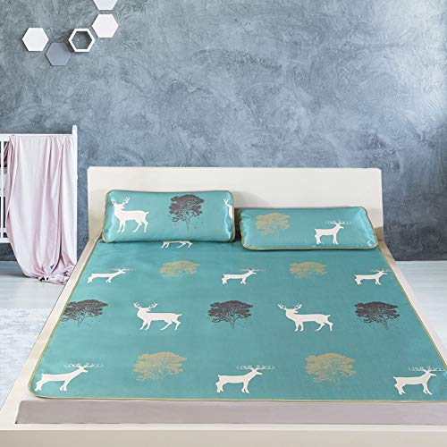 Raguso Cubrecolchón de verano con diseño exquisito impresión 3D cómoda (funda de almohada de 180 x 200 cm, 48 x 74 x 2)