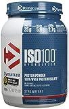 Dymatize ISO 100 Strawberry 900g - Hydrolysat de Protéines de Whey + Poudre d'Isolat