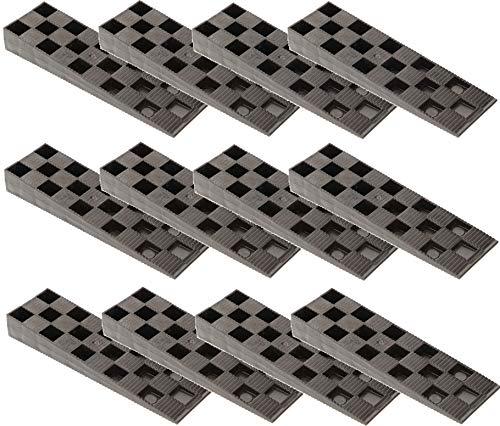 KOTARBAU® 25er Set Montagekeile Kunststoff 150 x 44 x 20 mm für Fenster Türen Türzarge Fensterrahmen Schwarz