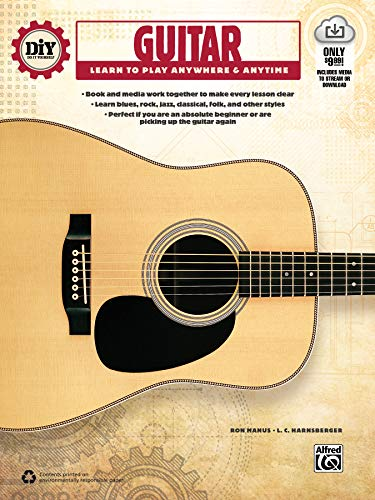 Compare Textbook Prices for DiY Do it Yourself Guitar: Learn to Play Anywhere & Anytime, Book & Online Video/Audio Pap/Psc Edition ISBN 9781470611392 by Manus, Ron,Harnsberger, L. C.