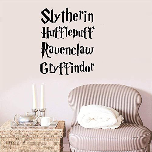 autocollant mural Harry Potter Movie Quote Sticker Enfants Gryffondor Poubelle à Serpentard Serpentard
