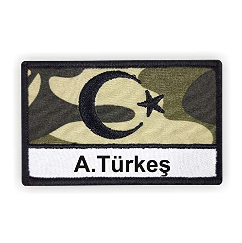 Turkey Asker patch met GEWENSTE TEXT camouflage I eenvoudig aan te passen I met klittenbandsluiting I Turk Turkey applicatie sticker jas broek T-shirt Turkey speciale eenheid