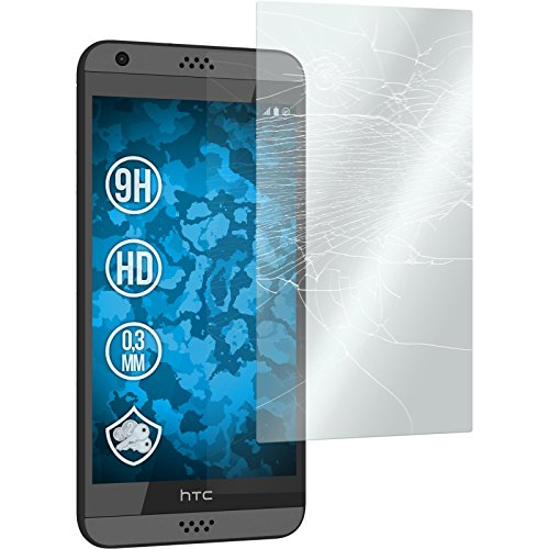 PhoneNatic 2 x Glas-Folie klar kompatibel mit HTC Desire 530 - Panzerglas für Desire 530