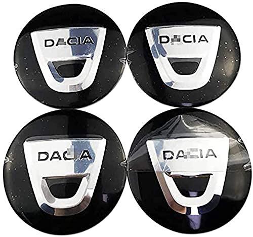 4 Pièces Auto Enjoliveurs, pour Dacia Duster Logan Sandero Dokker Les Capuchons De Moyeu Jante Couvercle Anti Poussière Accessoires De Style Voiture